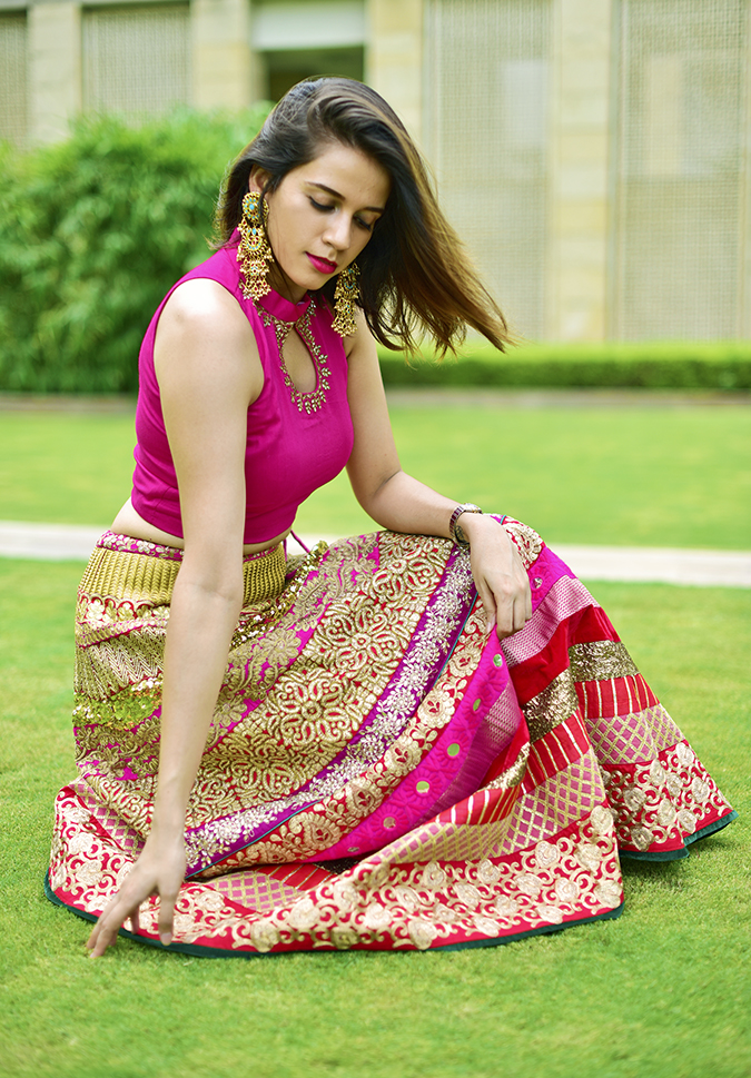 Fashion Capsule | Akanksha Redhu | sitting grass