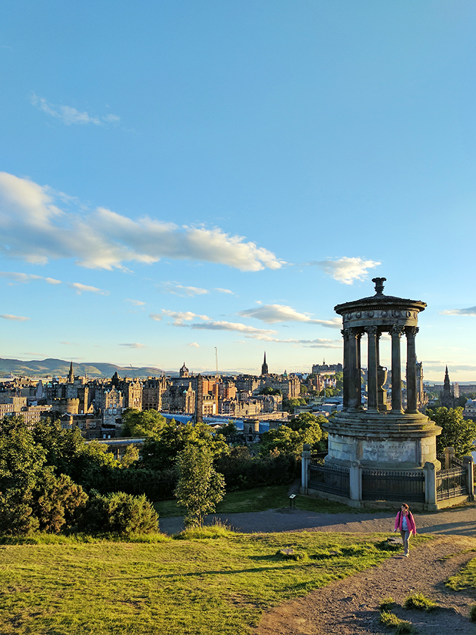 Edinburgh | Akanksha Redhu | calton hill tomb and city