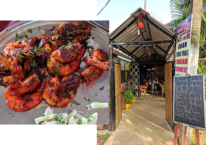 Places to Eat | Goa | Akanksha Redhu | vinayak prawns