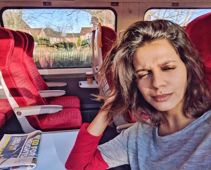 Must See Liverpool   Akanksha Redhu   Visit Britain   in the train