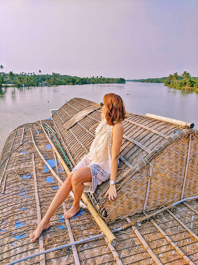 Kerala Backwaters | Vayalar | sitting on top of houseboat