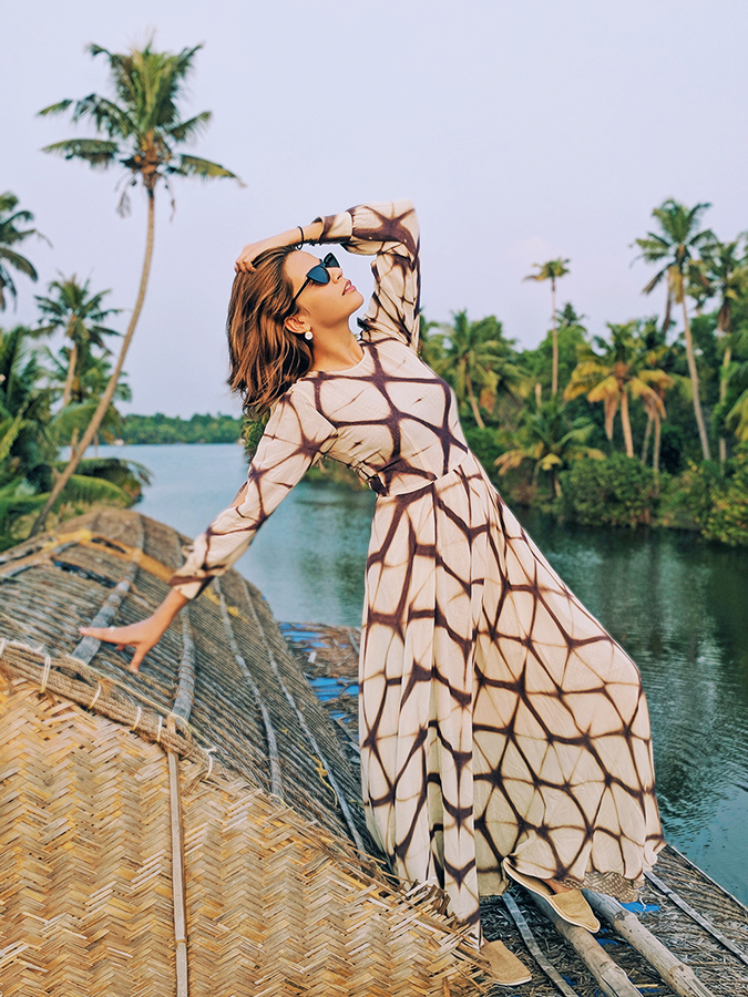 Kerala Backwaters | Vayalar | sejal jain dress standing