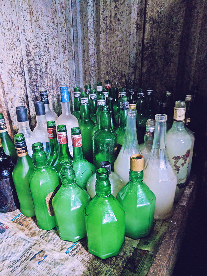Kerala Backwaters | Vayalar | bottles of toddy