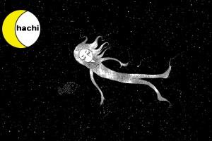 深海に浮かぶ人