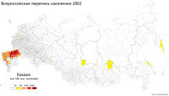 Cossacks in Russia [2002 Census] by Kireev