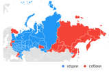 Cats [blue] vs. Dogs [red]