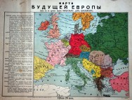 Russian map showing post-WW1 borders after Entente victory (1914). Other countries had similar grand designs.