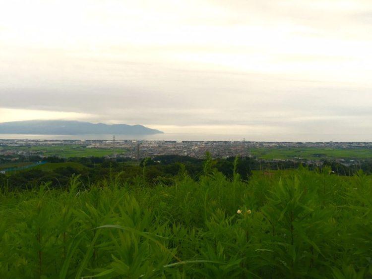 駿河湾全景。