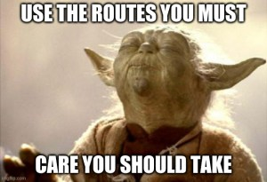 yoda use the routes meme