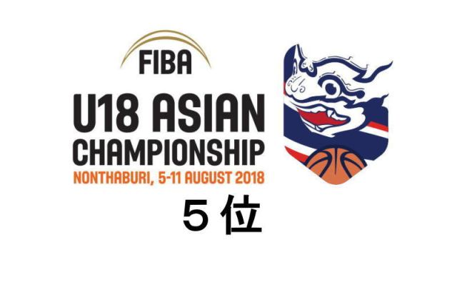 FIBA U18 アジア選手権大会2018 順位