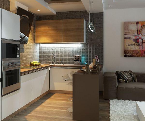 Кухня гостиная 14 кв м с диваном — дизайн фото | Блог о ...
