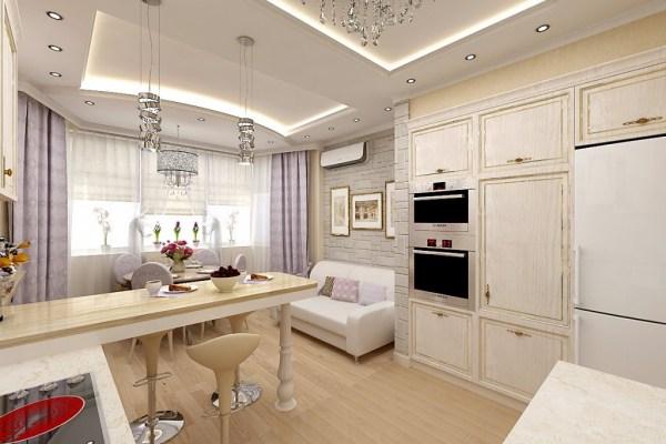Кухня гостиная 14 кв м с диваном — дизайн фото   Блог о ...