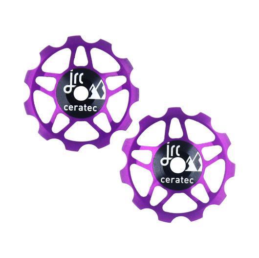 Kółka ceramiczne przerzutki JRC Components 11T do 9/10/11 Sram/Shimano/Campagnolo - fioletowe /purple/