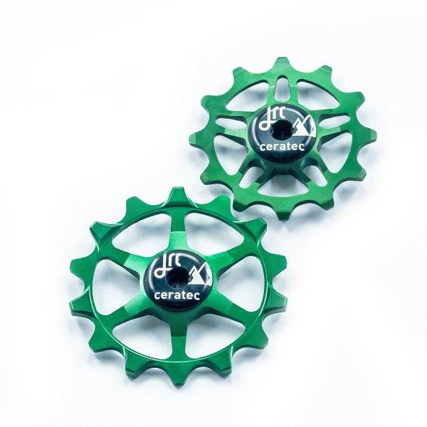 Kółka ceramiczne przerzutki JRC Components 14/12T do SRAM Eagle - ciemno zielone /racing green/