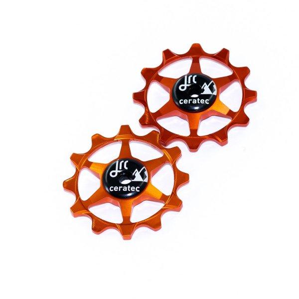 Kółka ceramiczne przerzutki JRC Components 12T do SRAM 1x system - pomarańczowe /orange/