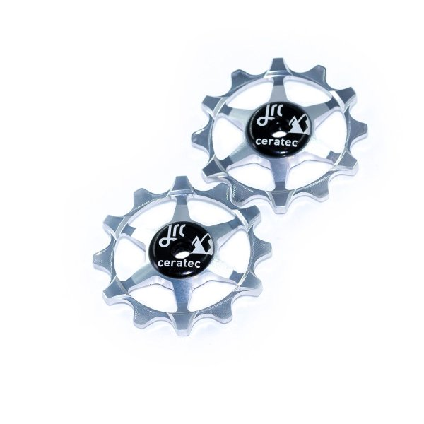 Kółka ceramiczne przerzutki JRC Components 12T do SRAM 1x system - srebrne /silver/