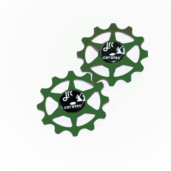 Kółka ceramiczne przerzutki JRC Components 12T do SRAM 1x system - ciemno zielone /racing green/