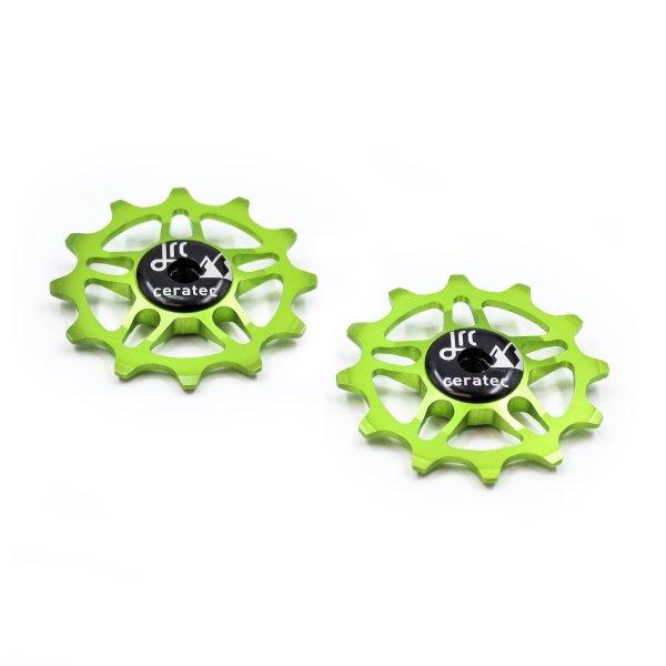 Kółka ceramiczne przerzutki JRC Components 12T do SRAM Force / Red AXS - fluo zielone /acid green/