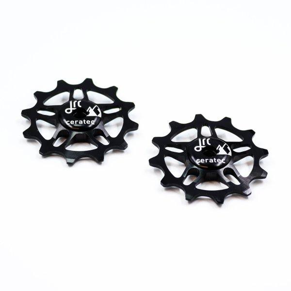 Kółka ceramiczne przerzutki JRC Components 12T do SRAM Force / Red AXS - czarne /black/