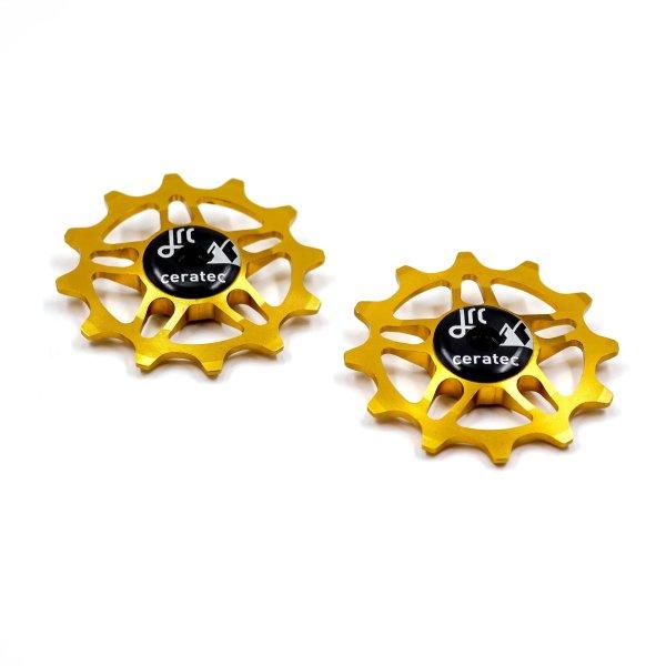 Kółka ceramiczne przerzutki JRC Components 12T do SRAM Force / Red AXS - złote /gold/