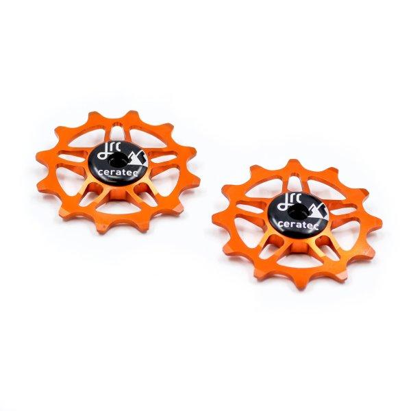 Kółka ceramiczne przerzutki JRC Components 12T do SRAM Force / Red AXS - pomarańczowe /orange/