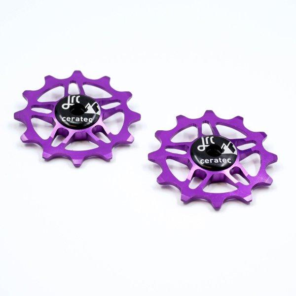 Kółka ceramiczne przerzutki JRC Components 12T do SRAM Force / Red AXS - fioletowe /purple/