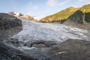 mendenhall glacier in afternoon light