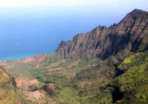 kaui mountains and see