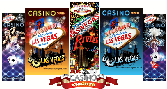 A K Casino Knights Vegas Banners available for hire