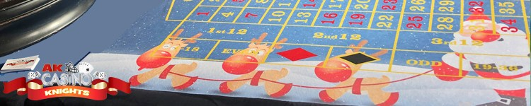 Christmas casino hire roulette table