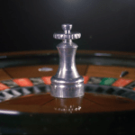 Roulette ball spin at A K Casino Knights