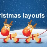 Father christmas and reindeer christmas casino layouts