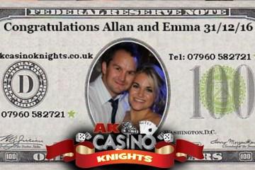 Personalised wedding fun money