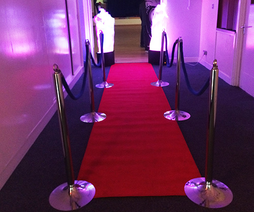 A K Casino Knights red carpet and flame lights