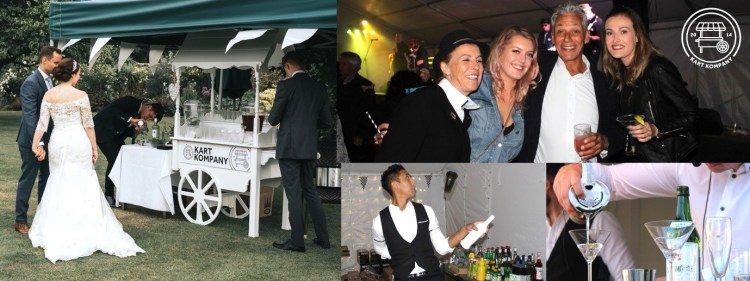 Fun casino hire with coctail cart for your event