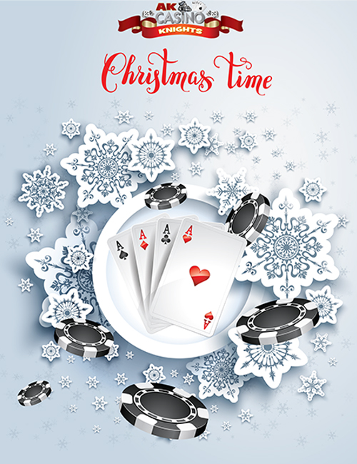 Christmas casino banner hire at A K Casino Knights