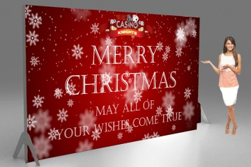 Merry christmas tension banner