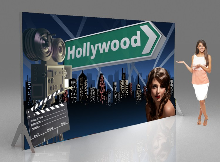Casino backdrops and banners Hollywood