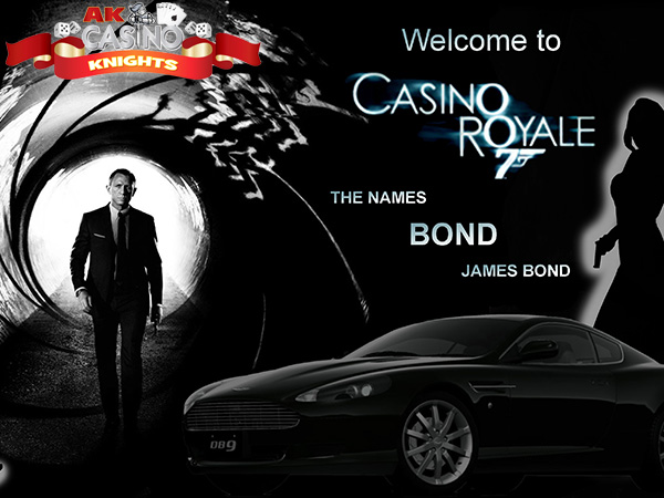 Bond themed casino hire