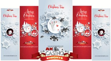 A K Casino Knights Christmas banners