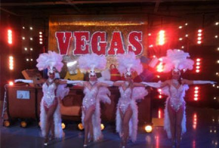 Vegas showgirl casino hire