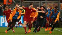 AS Roma berhasil menaklukkan tim favorit juara, Barcelona.