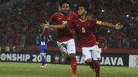 Timnas Indonesia U-16 selalu didukung penuh para suporter. (