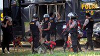 Situasi pengamanan di Stadion Andi Mattalatta jelang laga PSM vs Persija di final Piala Indonesia 2019. (