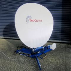 EX DEMO 1.2M KU BAND MOTORISED FLYAWAY ANTENNA