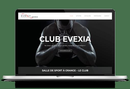Création site internet salle de sport evexia à Orange