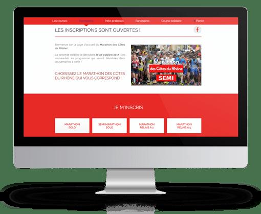 Création du site internet wordpress pour le marathon des Cotes du Rhône à Avignon