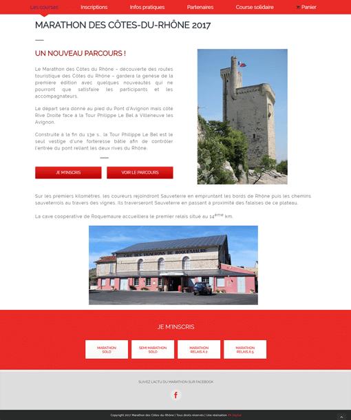 création site wordpress marathon des cotes du rhone 2017 Avignon AK Digital