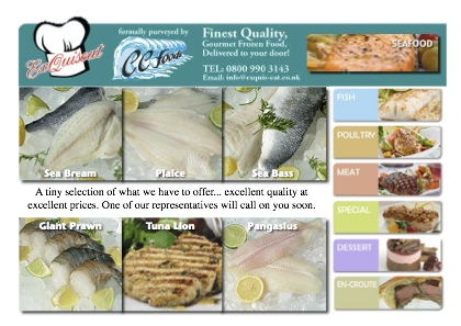 exquisieat A6 leaflet