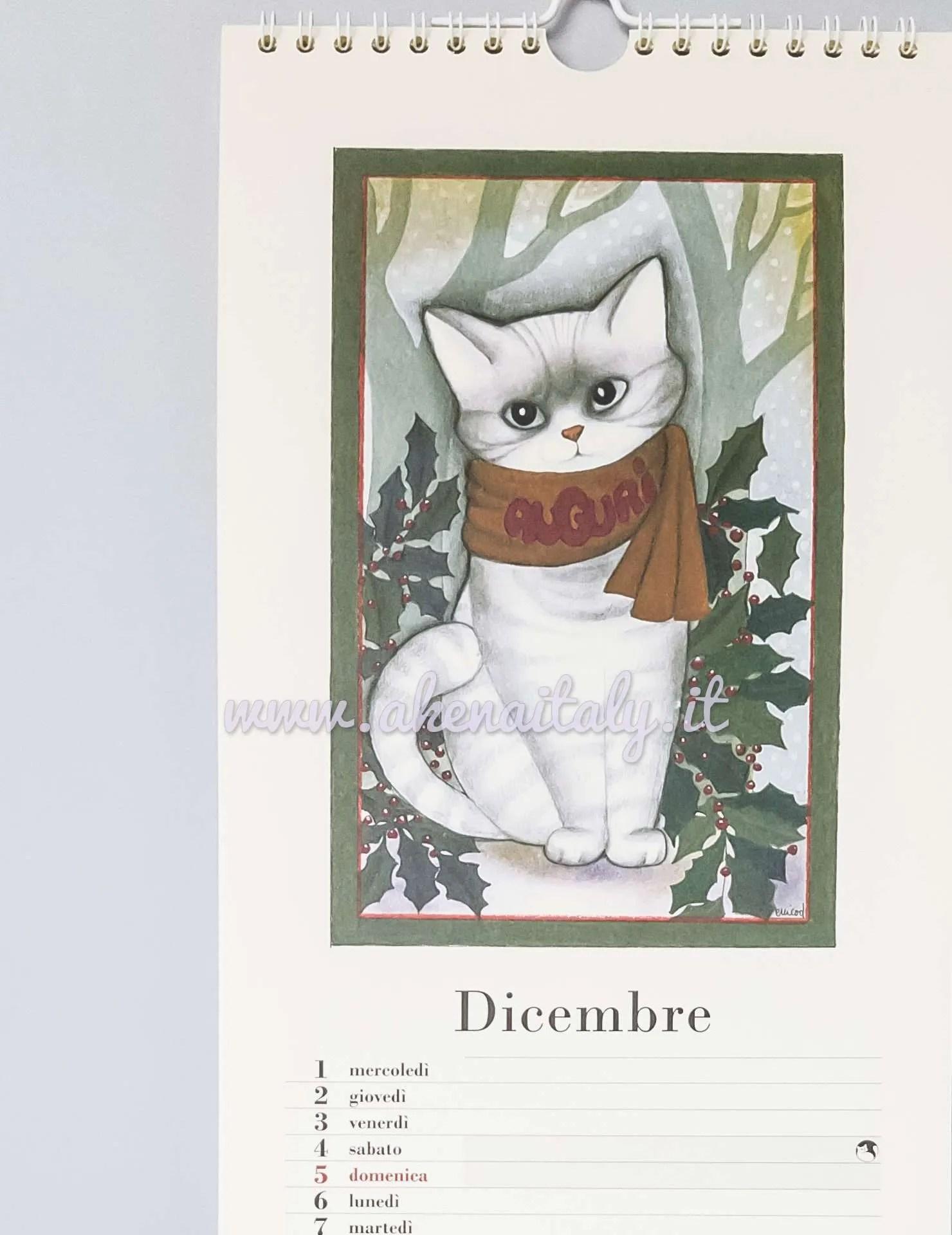 Calendario da parete Gatteria 2021   Akena